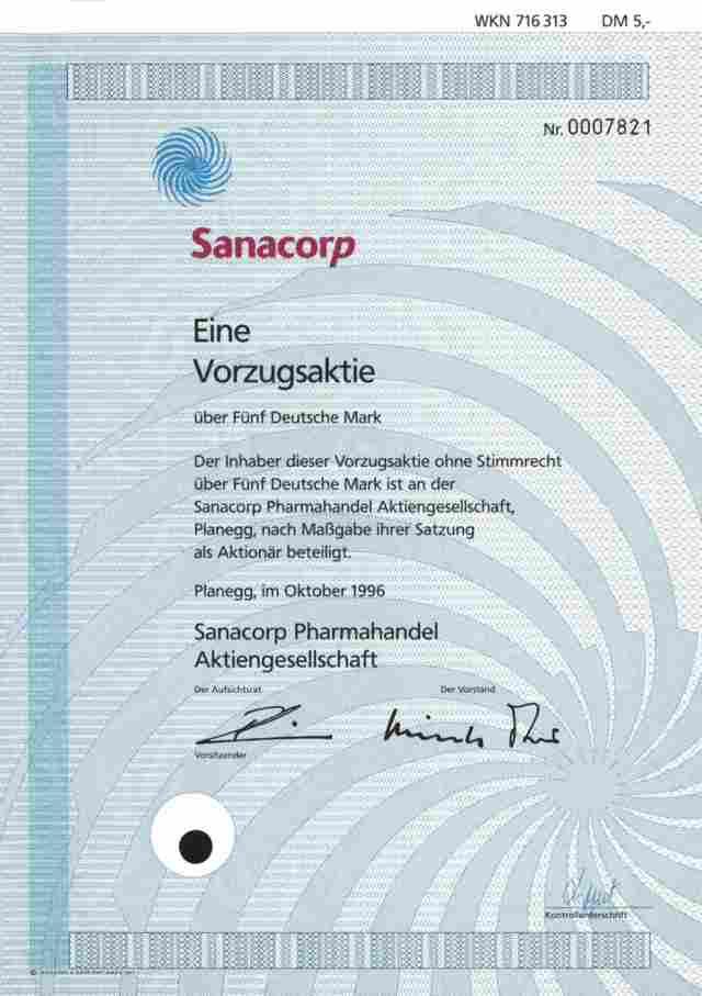 Sanacorp Aktie