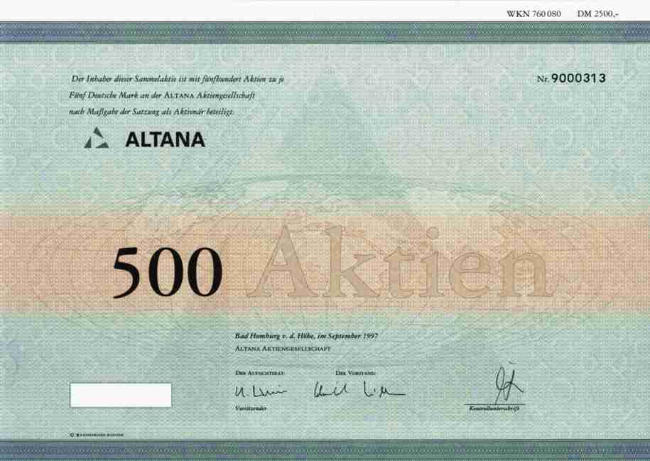 Altana Aktie